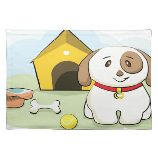 Cute dog placemat