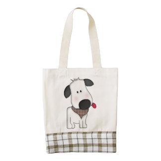 Cute dog pulling tongue tote reusable shopping bag