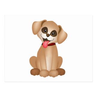 Cute dog / puppy postcard