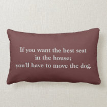 Cute Dog Quote Throw Pillow