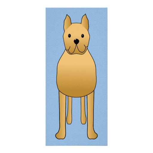 Cute Dog Rack Card Template
