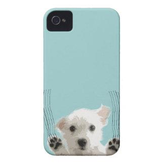 Cute dog scratch iPhone 4 Case-Mate case