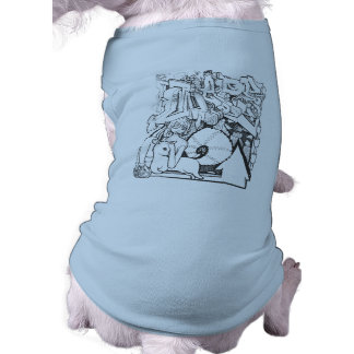Cute Dog shirt with graffiti sketch