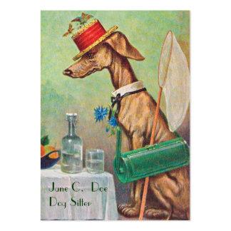 Cute Dog Sitter/Dog Walker Vintage Business Card