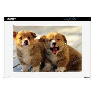 "Cute dog skin 15"" laptop decals"