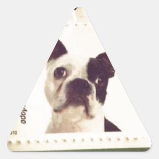 Cute Dog Stamped Triangle Sticker