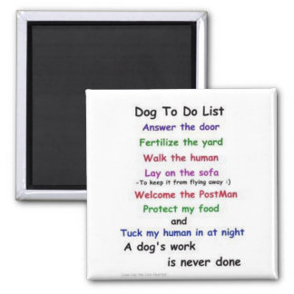 """Cute dog """"to do"""" list magnet"""
