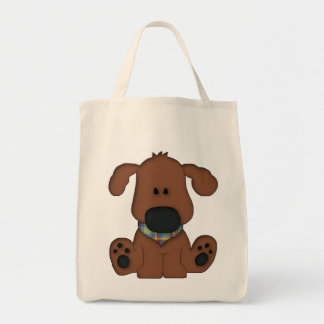 Cute dog tote reusable shopping bag