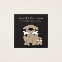 Dog training business cards templates zazzle cute dog training businesscards square business card colourmoves