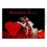 Cute Dog Valentine's Greeting Card - Jack Russell