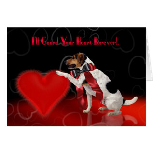 Cute Dog Valentine's Greeting Card - Jack Russell at Zazzle
