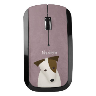 cute dog w head tilt Jack Russell Terrier Wireless Mouse