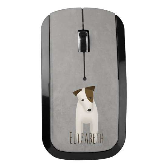 cute dog w head tilt Jack Russell Terrier Wireless Mouse