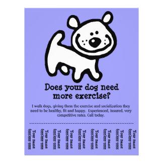 CUTE Dog Walker Custom promotion tear-sheet flyer