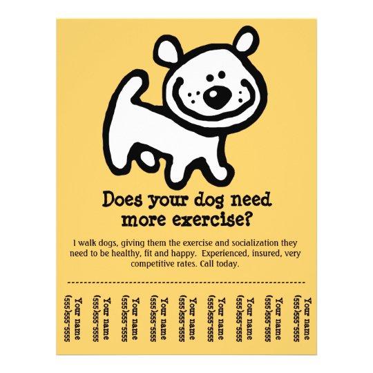 dog walking promotion tear sheet flyer_y flyer
