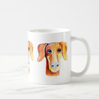 Cute dog watercolor portrait coffee mugs
