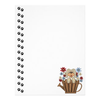 Cute Dog Watering Can Letterhead
