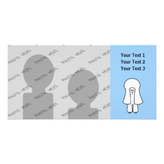 Cute Dog. White Toy Poodle / Miniature Poodle. Photo Card Template