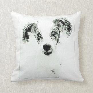 Cute Dog with Big Ears Throw Pillow