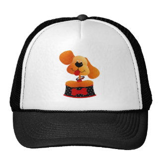 Cute Dog With Black Dotted Bed Trucker Hat