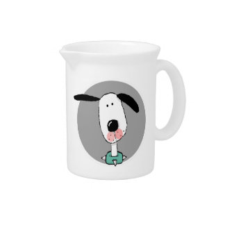 Cute Dog with Floppy Ears Beverage Pitchers