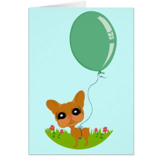 Cute Doggie Birthday Card! Stationery Note Card