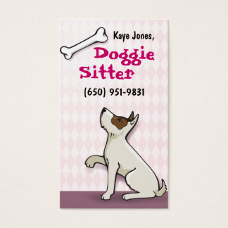 Cute Doggie Business Cards- pink Business Card