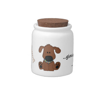 Cute Doggie Treats-Bones Candy Jars