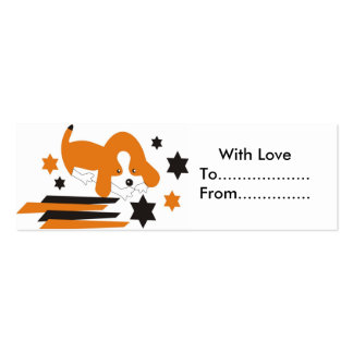 Cute doggy gift tags business card template
