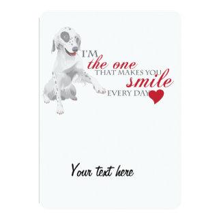 Cute Doggy 13 Cm X 18 Cm Invitation Card