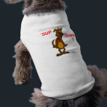 """Cute Doggy &#39;SUP DAWG?&#39; Dog Shirt<br><div class=""""desc"""">Dogs look hip and fly in this adorable doggie tee! &#39;SUP DAWG? design will make your dog look cute and cool! Cartoon dog drawn in pencil and ink then digitally colored. Original artwork by Sunny Copyright 2011</div>"""