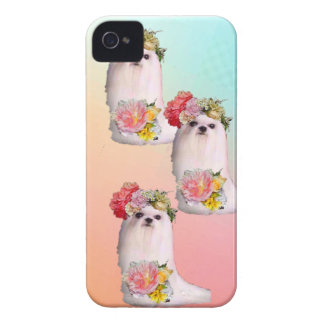 Cute dogs are dressing as flowers girls iPhone 4 cover