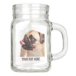 Cute Dogs custom Mason jar 2