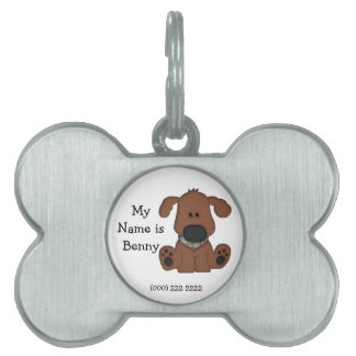 Cute Dog's I.D. Tag/Personalize Pet Name Tags