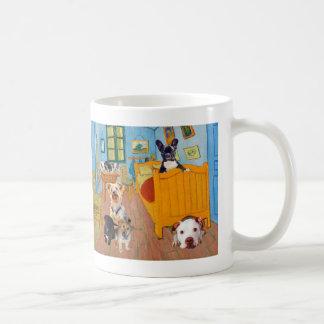 Cute Dogs in Van Gogh's Bedroom Coffee Mug