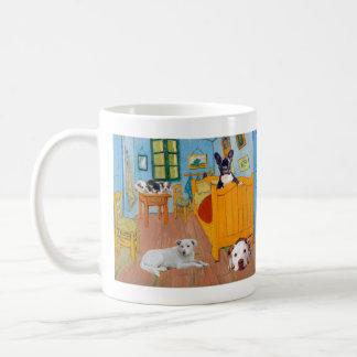 Cute Dogs in Van Goug's Bedroom Coffee Mug