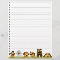 Cute Dogs  Lined Letterhead