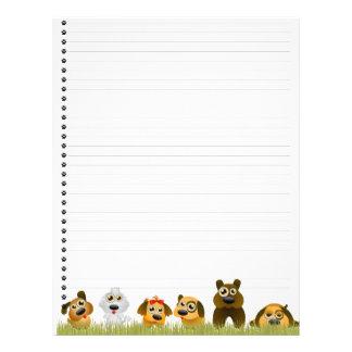 Cute Dogs  Lined Letterhead