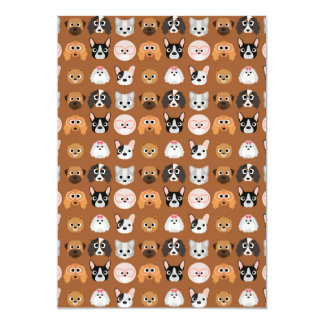 Cute Dogs on Brown Card