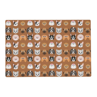 Cute Dogs on Brown Placemat