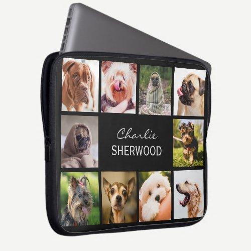 Cute Dogs OR YOUR PHOTOS custom name laptop sleeve