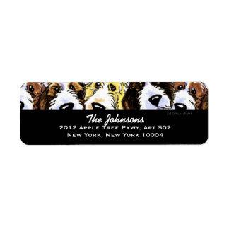 Cute Dogs PBGV Pack Custom Color Label
