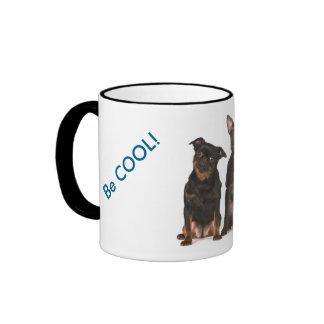 Cute dogs smiles ringer mug