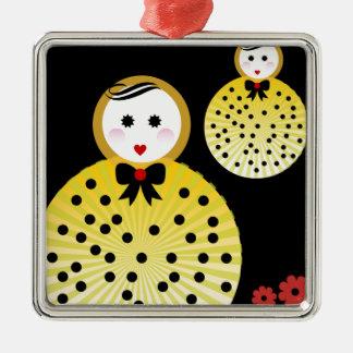Cute doll design Beebushka Metal Ornament