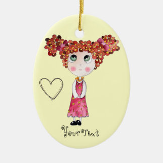 Cute Doll with Pink Dress Ornament