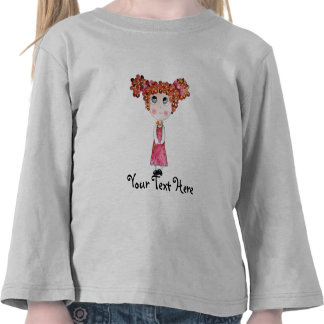 Cute Doll with Pink Dress T-Shirt