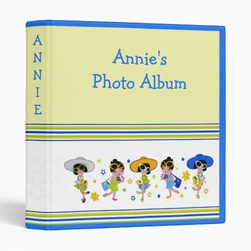 "Cute Dolls 1"" Binder/Album Customizable 3 Ring Binder"