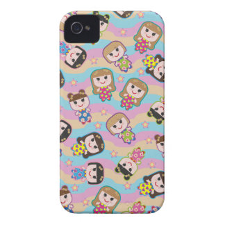 Cute Dolls Vector Pattern BlackBerry Bold Case