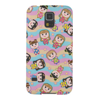 Cute Dolls Vector Pattern Case For Galaxy S5