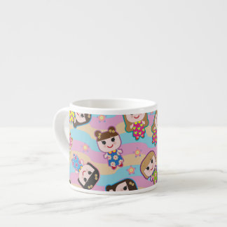 Cute Dolls Vector Pattern Expresso Mug